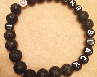 I love being Black bracelet