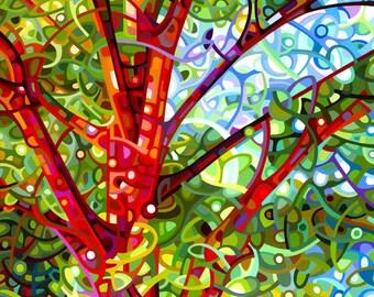 Fine Art Poster Print of an Original Abstract Landscape Painting - Summer Medley