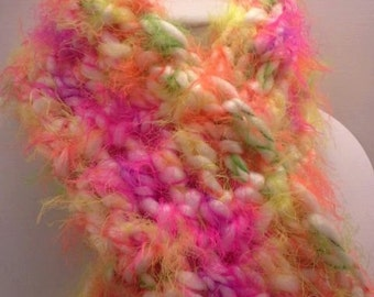 Sassy Princess Girls Soft and Fluffy Crochet Scarf