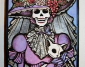 La Muerta Mini Original Art Woodblock Print