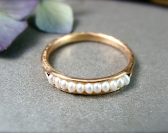 seed pearl stack ring ... 14k gold fill