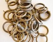 Vintage Brass Curtain Rings . Huge Lot . YART sale