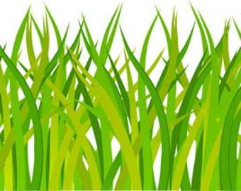 "Green Grass Wall Border Decal - 28"" x 7"""