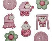 Baby Fun - Girl buttons