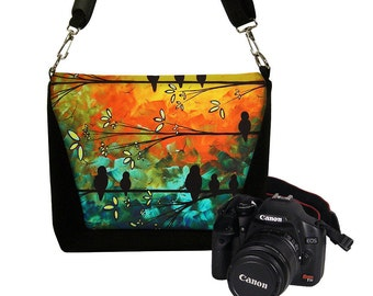 MadArt Digital Slr Camera Bag DSLR Camera Bag Purse Womens Camera Bag Case Zipper Padded - Deluxe Birds of a Feather  RTS