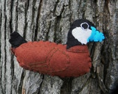 Ruddy Duck- Felt Bird Ornament,embroidered, Home Decor