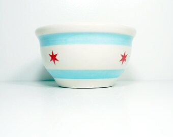 small bowl chicago flag.  Made to Order