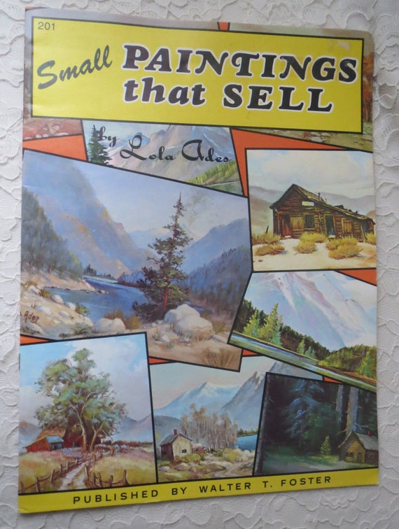Vintage small paintings that sell by lola ades a walter foster for Small paintings that sell