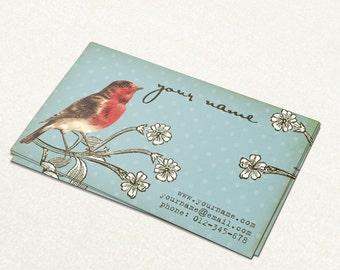 Business Cards  Custom Business Cards  Personalized Business Cards  Business Card Template  Vintage Business Cards  Bird Business Card V10