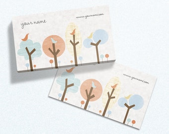 Business Cards  Custom Business Cards  Personalized Business Cards  Business Card Template  Modern Business Cards  Bird Business Card B11