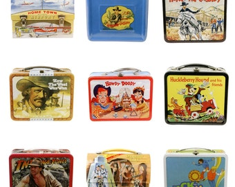 Retro Lunchbox Magnet - Indiana Jones, Huckleberry Hound, Howdy Doody, Hopalong Cassidy, It's About Time