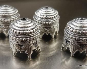 10mm Bead Cap - Antique Silver Maharaja - 4 Pack (G - 211)