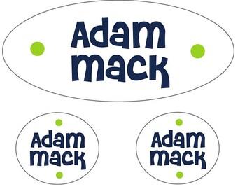 Kids Waterproof Labels | Navy Waterproof Labels for Boys | Kids Name Stickers | Kids Labels for Camp | Name Labels Preschool