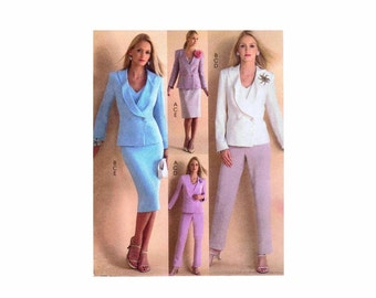 Womens Jackets Top Pants Skirt McCalls 4785 Sewing Pattern Double Breasted Jacket Misses Size 12 - 14 - 16 - 18 Bust 34 - 36 - 38 - 40 UNCUT