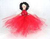 Valentine's Day Fairy Doll - OOAK Cloth Doll