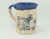 blue mug with a beagle