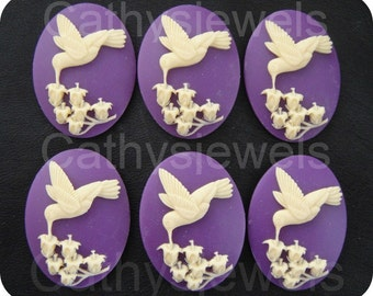 Winged Hummingbird Portrait Cameos