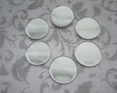 Cabochon Settings Side Wall 25mm Bezel Inside Round Silver Tone Findings on Etsy x 6