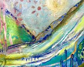 vagabond 2 .... 6 x 6 original by annie lockhart