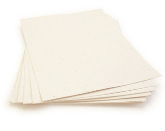 """10 Cream Sheets of Wildflower Plantable Seed Paper - 8.5 x 11"""""""