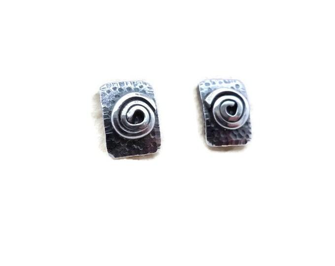 Sterling Silver Swirl Post Earrings