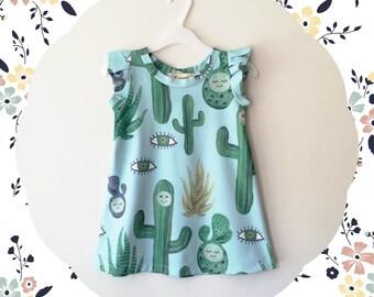 Cactus print baby girl dress Supayana