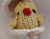 Natural Eco Friendly, Waldorf Soft Plush Toy Set Spring Egg and Chick Set