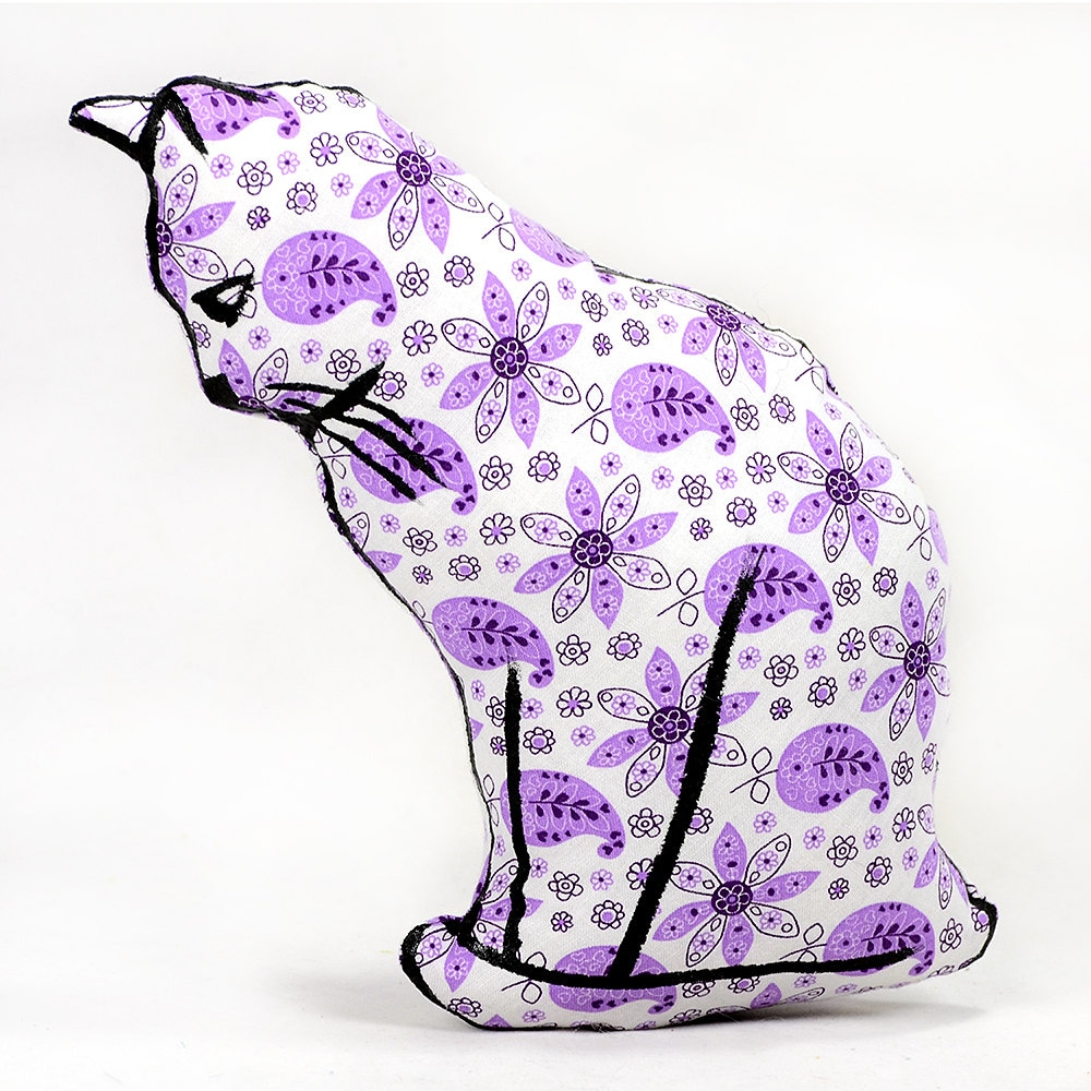Animal Shaped Massage Pillow : decorative pillow cat pillow animal pillow cat profile