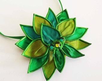 Sweet As Peas lotus necklace/brooch