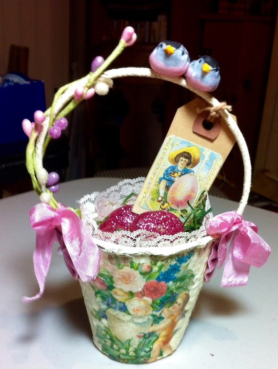Peat Pot Easter Basket Decoration