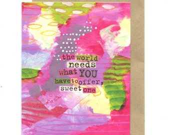 Sweet One greeting card