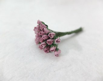 25 4mm mulberry mauve rose buds