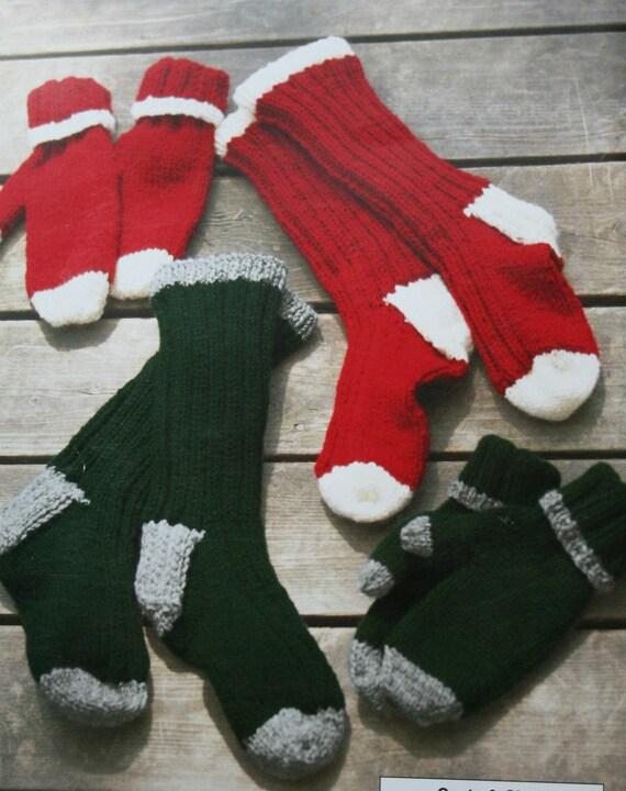 Knitting Patterns Winter Accessories Red Heart 1446 Socks ...
