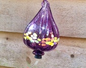 GORGEOUS ! Hummingbird Feeder - Amethyst Purple Blown Glass