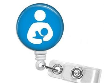 INTERNATIONAL BREASTFEEDING LOGO Retractable Badge Reel