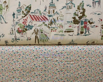 Kathy Hall, Ooh La La Paris and Dots Color T - Half Yard  Fabric Set