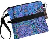 ON SALE Cell Phone Case iPhone Purse Cross Body Bag Small Shoulder Bag Small Sling Bag / Plus ZIPPER pocket - Long Zip Bag - Murano Glass