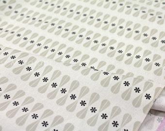 Cotton + Steel Black + White - Floral Geo - fat quarter