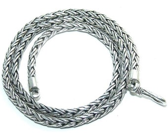 Sale: 4mm Sterling Silver Chain 16-Inch Necklace
