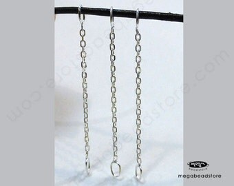 20 pcs 1.5 inch 925 Sterling Silver Cable Chain Connectors F442