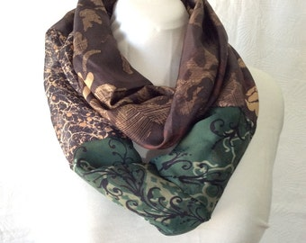 Into the Woods Silk Double Infinity Scarf