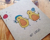 Funny Hot Chicks Friend Greeting Card