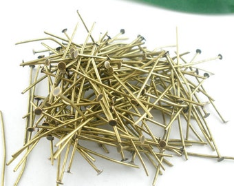 300pc 50mm antique bronze finish head pins -9654