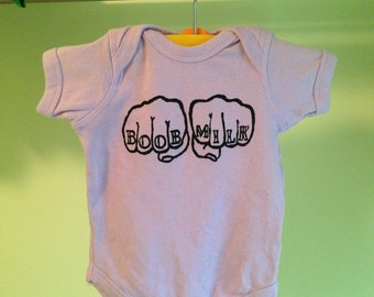 Boob Milk Lavender Knuckle Tattoo Onesie