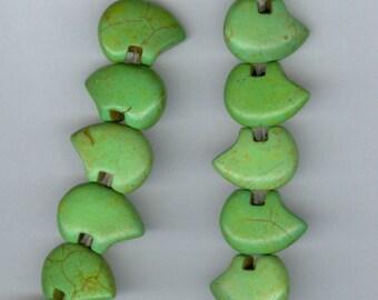 12x18mm Green Magnesite Baby Zuni Bear Gemstone Beads strand