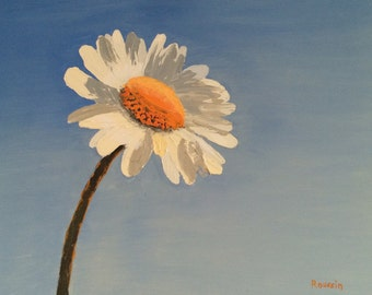 "Impasto Oil Landscape Painting, ""Simplicity"", colorful minimalist original art"