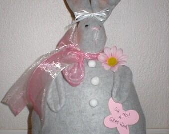 Oh No A Gray Hare Bunny Handmade