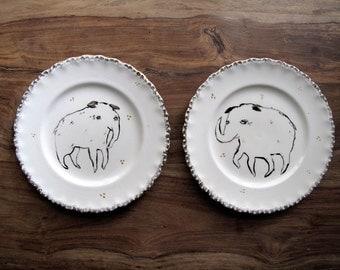 Simple Beasts Decorative Plates  / Original Pieces