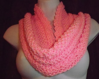 Pretty in Pink  knitted cowl