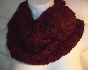 Brown knit cowl  -4071513